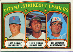 1972 Topps Baseball Cards      095      Tom Seaver/Fergie Jenkins/Bill Stoneman LL